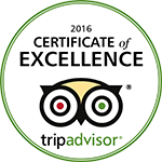 2016 Certificate of Excellence - TripAdvisor