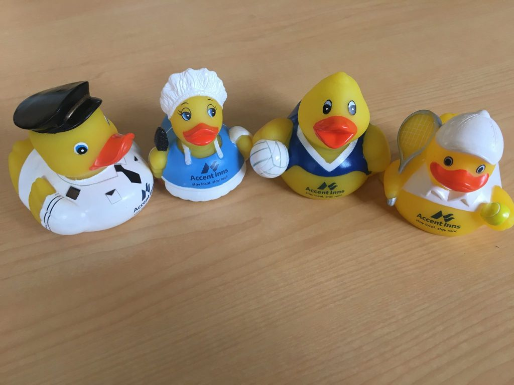 Meet Our Rubber Ducks, A Mascot You Can Take Home | Accent Inns