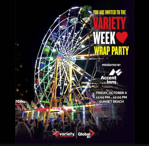 Variety Wrap Party flyer