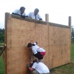 Climbing the wall at the power to play 2010