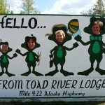 Accent Inns sales team posing in funny picture at Toad river