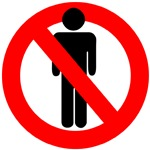 no-men-allowed sign