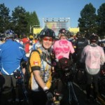 Janet at the Ride to conquer cancer