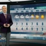 ed bain from CHEK News with weather map