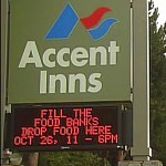 Accent Inn Victoria Hotel sign