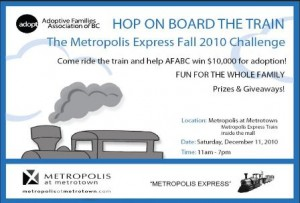 Hop on Board the Train poster