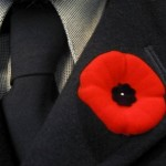 poppy on a jacket representing Accent Inns bc hotel poppy campaign