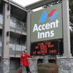 Mandy Farmer shows off the new look of Accent Inns