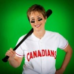 Accent Inn Vancouver Airport hotel Donna Price wearing Vancouver Canadians jersey