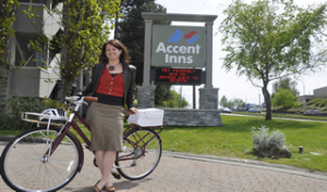 Mandy Farmer loves accent inns bike friendly hotel program