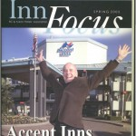 Terry farmer jumps for joy - Victoria hotel chain, Accent Inns Celebrates 25 years in business