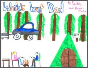 worlds best daddy poster for fathers day