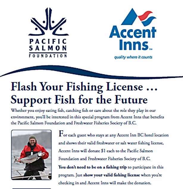 Pacific Salmon foundation and Accent inns fish for the future program