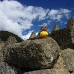 Accent Inns Canuck Duck and Victoria hotel sales manager Karen England enjoy the ruins in Machu Picchu