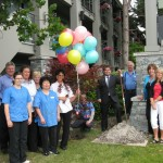 BC hotel staff of Accent Inns at Tree planting ceremony in Victoria BC