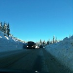 Plowed road on Vancouver Island BC