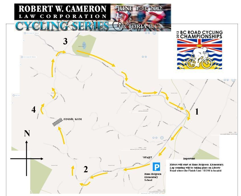 Accent Inns Classic BC Road  cycling championship 2012 route