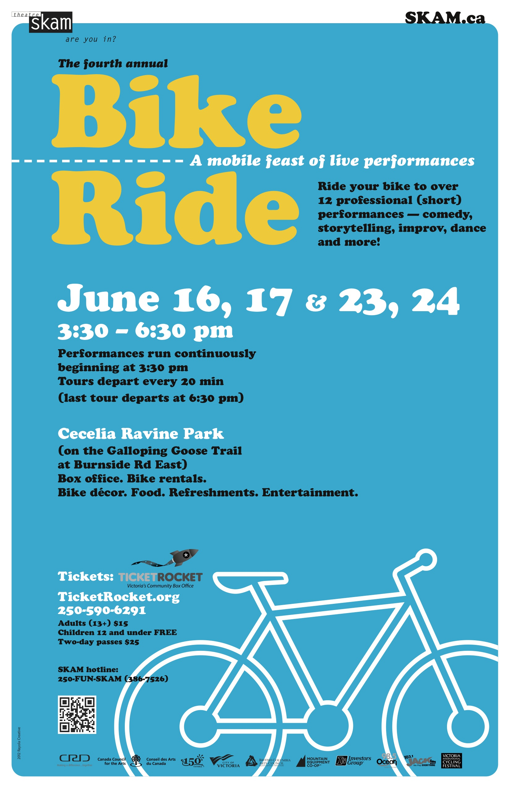 Theatre SKAM 2012 Bike Ride poster for Victoria BC