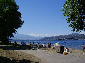 Sandy beach in Kelowna