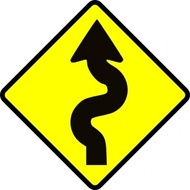 Winding Road sign represents the malahat