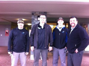 "Accent Inn Kelowna Team Members ""growing one"" for Movember"