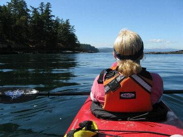 kayaking near Victoria BC