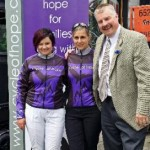 John Espley with Robin & Cindy of the Cycle of Hope