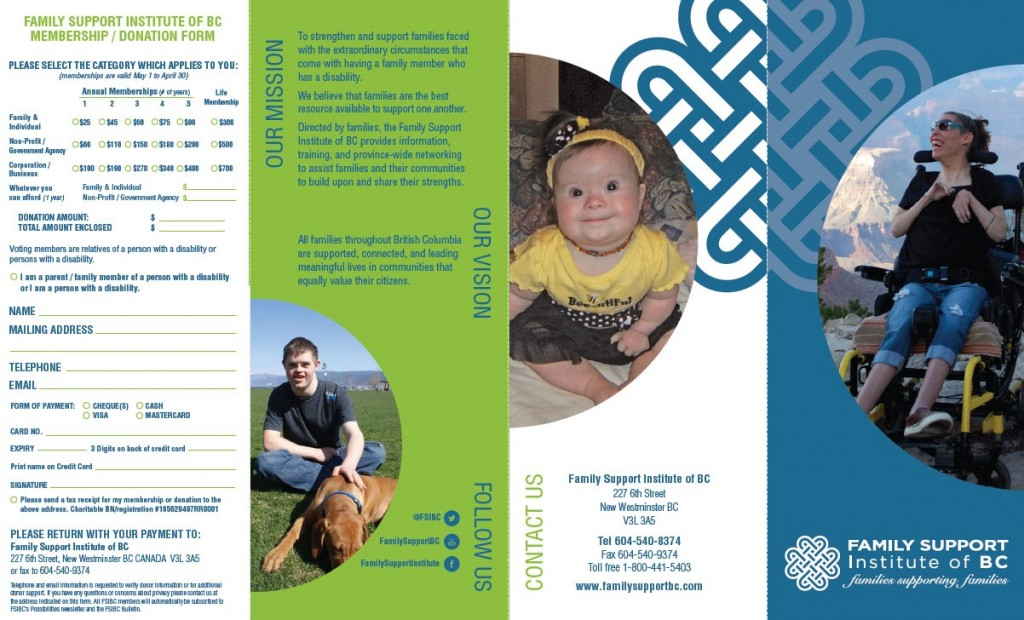 Family Support Institute of BC 2015 Brochure